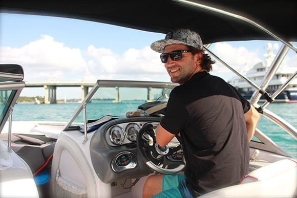 Franck Robins is the waterpostrs instructor and owner of Watersports Paradise