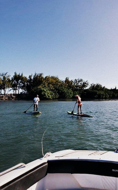 Paddle boarding is always a good idea to enjoy Miami's water